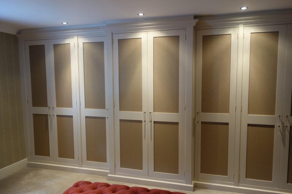 6 Door stepped Wardrobe - hand painted with Shagreen Panels