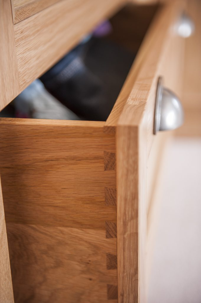 Dovetailed Drawer in Oak