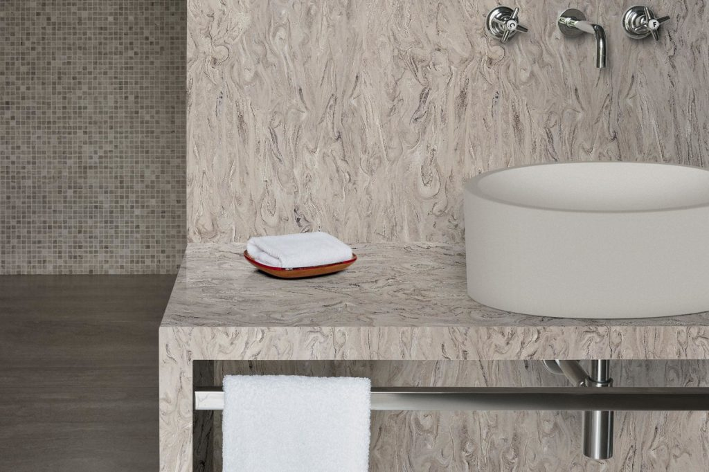 Corian® Vanity Table detailed - Smokedrift Prima